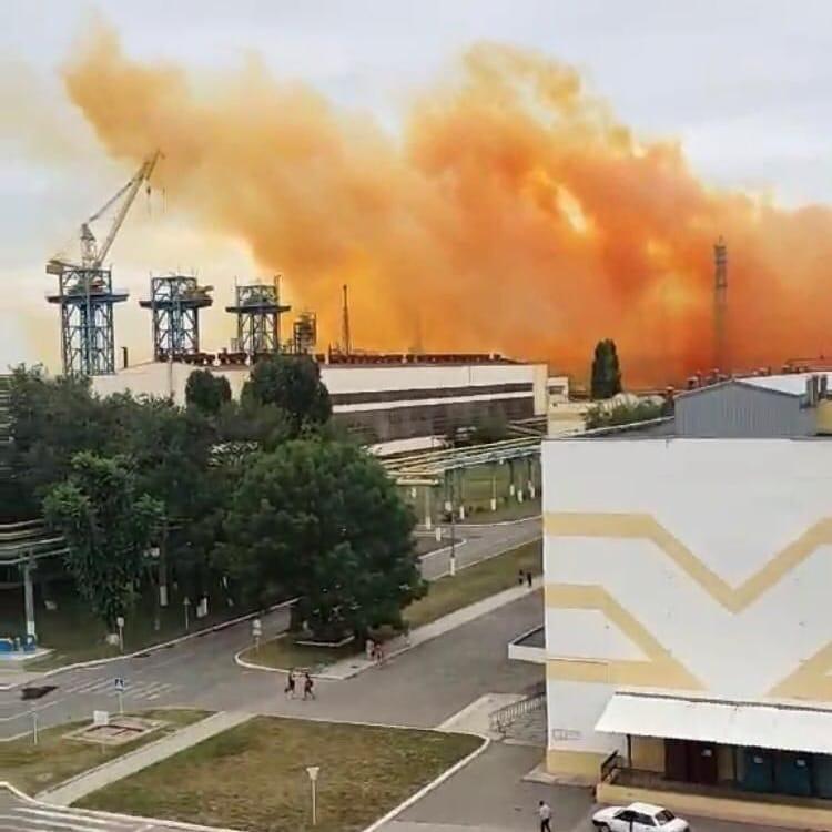 Аварія Рівнеазот помаранчева хмара